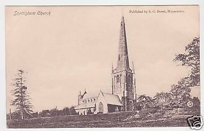 Snettisham Church Photo Postcard C1910 / Hunstanton • 10£