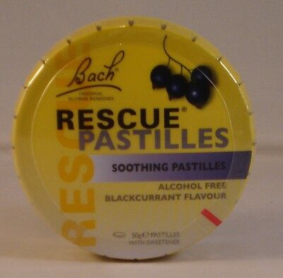 Bach Rescue Remedy Pastilles Blackcurrant Flavour Three Tins. BBE 01/2022 • 16.99£