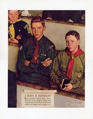 $ CDN30.32 • Buy Norman Rockwell Boy Scout Print SCOUT IS REVERENT 1954