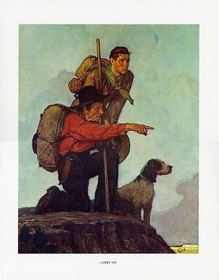 $ CDN46.66 • Buy Norman Rockwell BSA Boy Scout Print CARRY ON 1934