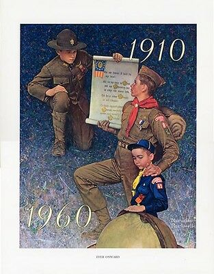 $ CDN39.99 • Buy Norman Rockwell BSA Boy Scout Print EVER ONWARD 1960