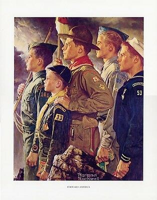 $ CDN46.66 • Buy Norman Rockwell Boy Scout Print FORWARD AMERICA 1951