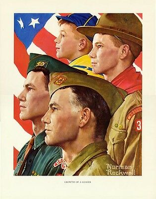 $ CDN33.32 • Buy Norman Rockwell Boy Scout Print GROWTH OF A LEADER 1966