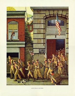 $ CDN30.32 • Buy Norman Rockwell Boy Scout Print SCOUTING IS OUTING 1968