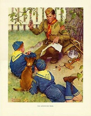 $ CDN46.66 • Buy Norman Rockwell Boy Scout Print ADVENTURE TRAIL 1952