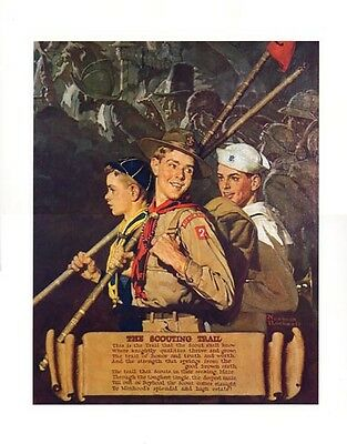 $ CDN46.66 • Buy Norman Rockwell BSA Boy Scout Print SCOUTING TRAIL 1939