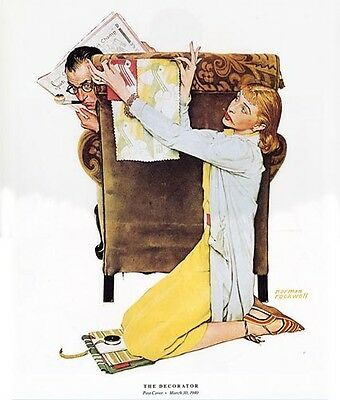 $ CDN19.99 • Buy Norman Rockwell Wife Remodeling Print THE DECORATOR