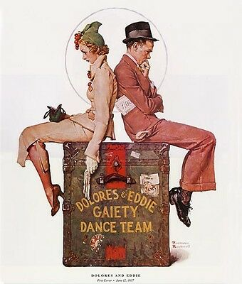 $ CDN19.99 • Buy Norman Rockwell Dance Team Print DOLORES AND EDDIE
