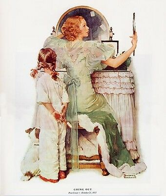 $ CDN19.99 • Buy Norman Rockwell Young Woman And Girl Print GOING OUT