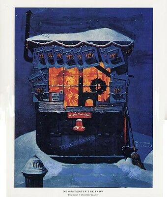 $ CDN19.99 • Buy Norman Rockwell Christmas Print NEWSSTAND IN THE SNOW
