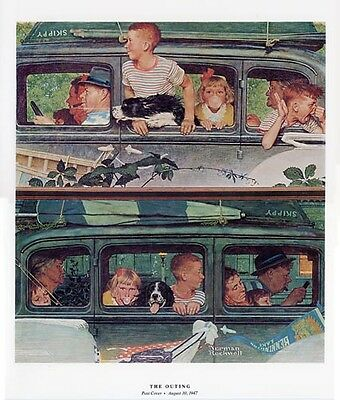 $ CDN20.04 • Buy Norman Rockwell Family Holiday Print THE OUTING