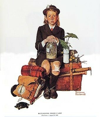 $ CDN18.79 • Buy Norman Rockwell Camping Print RETURNING FROM CAMP
