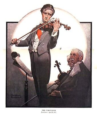 $ CDN18.79 • Buy Norman Rockwell Violinist Print THE VIRTUOSO