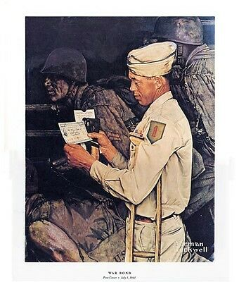 $ CDN19.99 • Buy Norman Rockwell WWII WW2 Print THE WAR BOND