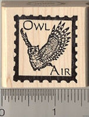 $11.99 • Buy Owl Air Faux Post Rubber Stamp D5509 WM
