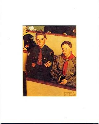 $ CDN18.19 • Buy Norman Rockwell Boy Scout Print SCOUT IS REVERENT 1954