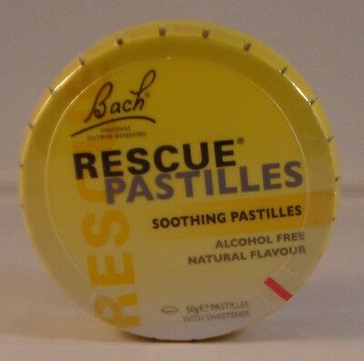 Bach Rescue Remedy Pastilles 50g. Three Tins BBE 11/2021 • 14.99£