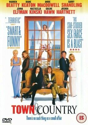 Town And Country - Warren Beatty - Goldie Hawn - DVD PAL Region 2 - (New) • 2.95£