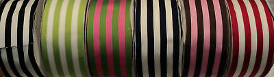 2-1/2  Wide Silky Grosgrain Ribbon - Stripes - 6 Colors To Choose • 2.15£