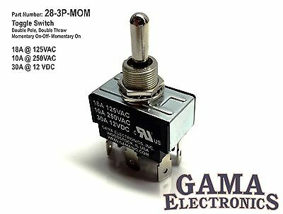 Double Pole Double Throw 3 Position Momentary Toggle Switch - 28-3P-MOM • 15.95$