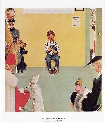 $ CDN16.28 • Buy Norman Rockwell Boy And Dog Print WAITING FOR THE VET