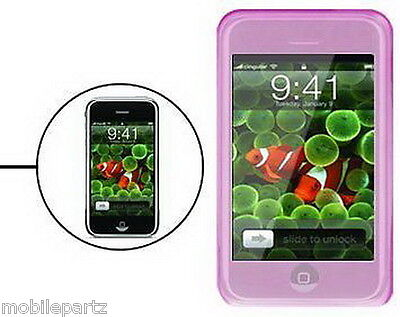 £1.99 • Buy Pink Silicone / Gel Case Skin Cover For The Apple IPhone 2G