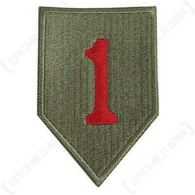 US Army 1ST INFANTRY DIVISION Insignia Patch WW2 Repro American Big Red One 1 • 6.75£