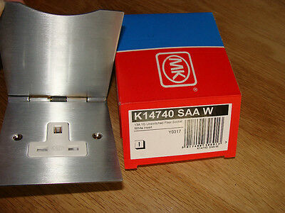 Mk Edge 13 A 1g Unswitched Floor Socket Silver Anodised Aluminium  K14740 Saa W • 14.99£