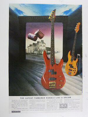 11x16  Retro Magazine Advert 1987 YAMAHA Rbx Bass • 10£
