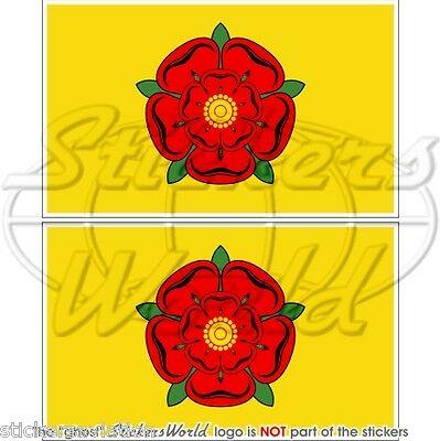 £3.48 • Buy LANCASHIRE Flag Red Rose Of Lancaster UK 75mm(3 ) Bumper Stickers, Decals X2