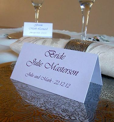 £1.19 • Buy Personalised Table Name Place Cards Wedding Birthday Meeting Meal Setting