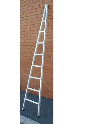 2.5m   8`single Aluminium Window Cleaners / Cleaning Ladder With Glazing Block  • 125£