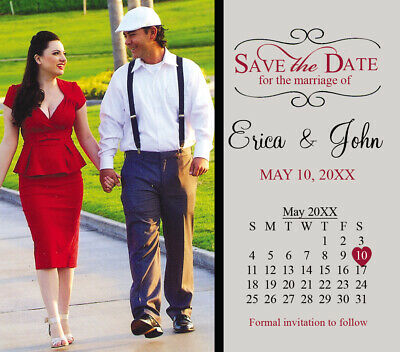 AU72.10 • Buy Large Save The Date Wedding Invitation Magnets Favors With Photo