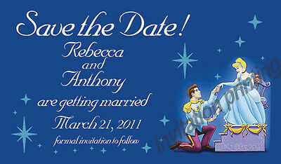 AU131.09 • Buy Save The Date Wedding Invitation Magnet Cinderella