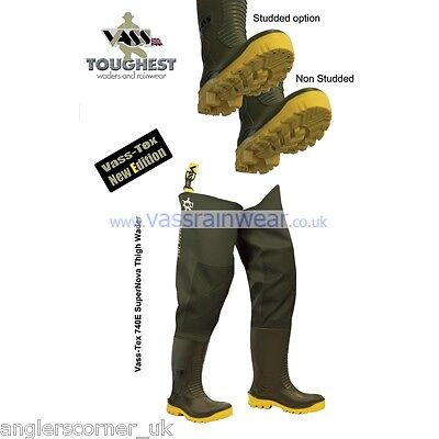 Vass-Tex Super Nova 740e Thigh Waders / Non-Studed / All Sizes • 73.95£