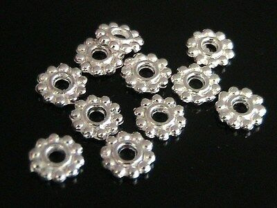 25 X 7mm Silver Plated Daisy Spacer Beads Jewellery Craft  FREE UK P+P J26 • 1.39£