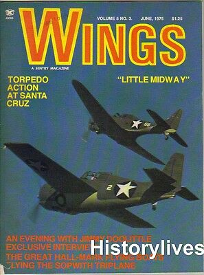 $13.95 • Buy Wings Magazine V5 N3 Midway Torpedo Jimmy Doolittle Hall XPTBH-2 Flying Boat