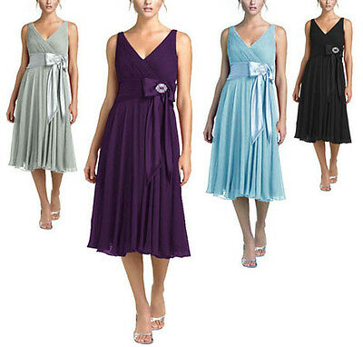 AU34.99 • Buy Purple Black Grey Blue Cocktail Evening Bridesmaid Dress AU Plus Size 26 - 8 New