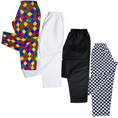 £15.99 • Buy Chefs Trousers / Chef Pants Uniforms Trouser  White - Black - Harlequin - Chess