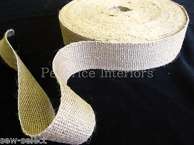 £14.29 • Buy Reel Of STRONG Jute Upholstery Chair Webbing Roll Seat Seating Tape - 33mt 2  W