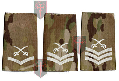 Pair Of Multicam MTP PTI Rank Slide Physical Training Instructor - LCPL CPL SGT • 6£