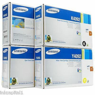 Set Of 4 Samsung Original OEM Toner Cartridges CLT-K4092S,C4092S M4092S,Y4092S • 209.99£