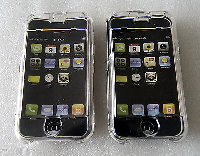 £3.95 • Buy Pack Of 2 Transparent Crystal Cases With Screen Protector For Apple IPhone 2G