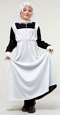 $16.67 • Buy Victorian Edwardian Maid Girls Costume History Outfit Fancy Dress & Hat New 6-9