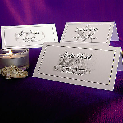 £2.97 • Buy Personalised Place Cards Wedding Masonic Meal Table Name Setting Card