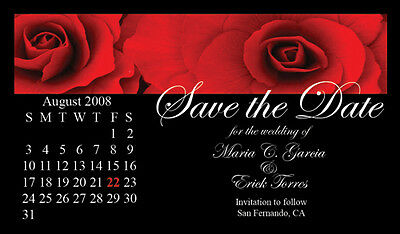AU63.91 • Buy Save The Date Wedding Invitation Magnets Roses