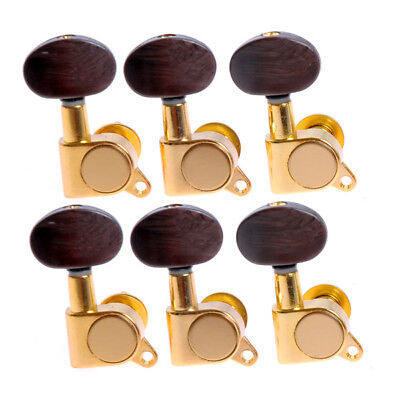 $ CDN23.99 • Buy 6R Acoustic Guitar String Tuning Pegs Tuners Keys Machine Heads Gold Amber Brown