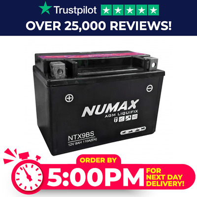 Numax YTX9-BS 12v 8Ah Motorcycle Battery • 25.92£
