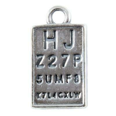 Optician Eye Chart Eye Sight Test 925 Sterling Silver Charm • 10.99£