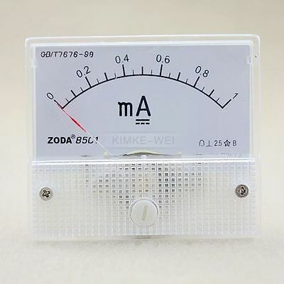$5.60 • Buy DC 0-1mA Analog Amp Meter Ammeter Current Panel New